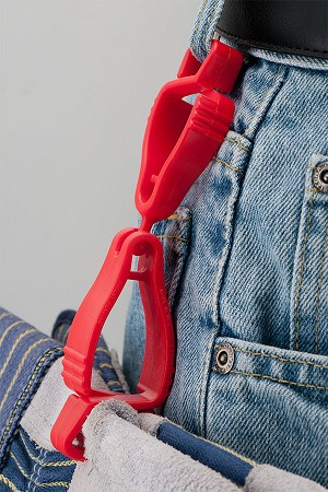 Simply attach the Handi Klip® glove clip to your belt loop and the other end to your gloves.